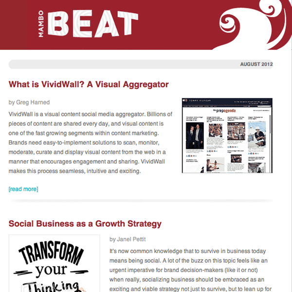 Mambo Media - Mambo Beat Newsletter